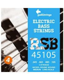 GALLI STRINGS RSB45105 MUTA CORDE PER BASSO 4 CORDE 45/105 NICKEL REGULAR ROUNDWOUND LONG SCALE