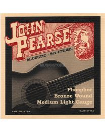 JOHN PEARSE 720ML PHOSPHOR BRONZE WOUND MUTA CORDE PER CHITARRA ACUSTICA 13/52 MEDIUM LIGHT