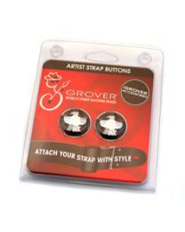 GROVER EAGLE GUITAR STRAP BUTTON CHROME 620C STRAP LOCK