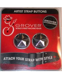 GROVER STAR GUITAR STRAP BUTTON CHROME 630C STRAP LOCK