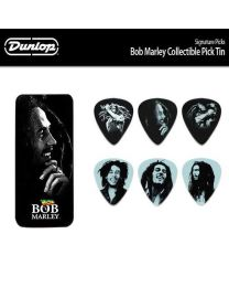 DUNLOP BOBPT04H Bob Marley Silver Pick Tin, Heavy 6 Picks KIT 6 PLETTRI