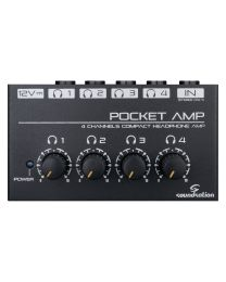 SOUNDSATION POCKET AMP MINI AMPLIFICATORE PER 4 CUFFIE