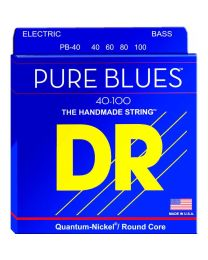 DR STRINGS PURE BLUES PB-40 MUTA CORDE PER BASSO 4 CORDE 40/1000