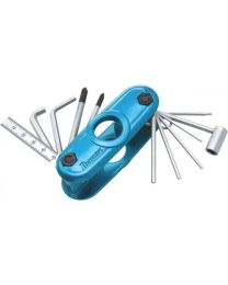Ibanez Multitool Hex Wrench MTZ11 TOOL MULTIUSO PER CHITARRA /BASSO 11 IN 1 BLUE
