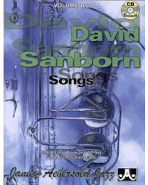 AEBERSOLD VOLUME 103 DAVID SANBORN SONGS (INCLUDE CD) BASI JAZZ
