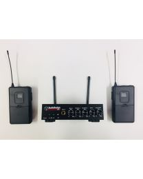 AUDIODESIGN sistema microfono wireless PMU 520M 2 body pack wireless
