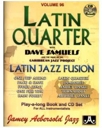 AEBERSOLD VOLUME 96 : LATIN QUARTER (INCLUDE CD) BASI JAZZ