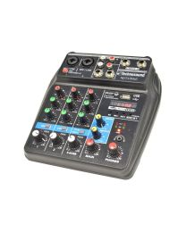 TECHNOSOUND NEXT4 BMP3 MIXER 4 CANALI CON MEDIA PLAYER E BLUETHOOTH