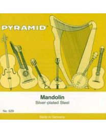 PYRAMID 529101 MUTA CORDE PER MANDOLINO LOOP END SILVER PLAITED STEEL