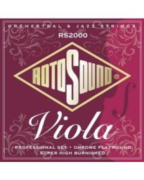 ROTOSOUND RS 2000 MUTA CORDE PER VIOLA 14/43 PROFESSIONAL SET CHROME FLATWOUND