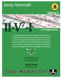 AEBERSOLD VOLUME 3 II / V7 / I LA PROGRESSIONE EDIZIONE ITALIANA VOLONTE'&CO (CD INCLUSO) BASI JAZZ
