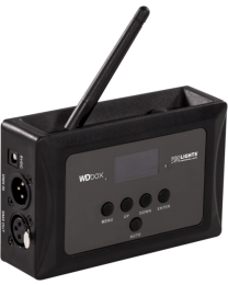 TRIBE WDBOX Ricetrasmettitore DMX wireless, IN/OUT XLR 3 poli, dist. 200m, 2,4 GHz, 0,6 kg