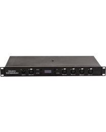 TRIBE DATAMAIN44 Splitter ibrido, rack, XLR5, In: 1 DMX/1 PowerCon, Out: 4 DMX/4 PowerCon
