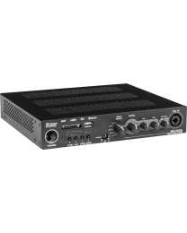 PROAUDIO MPC200A Lettore multimediale amplific. 2x300W/4 ohm, 70V, 5 Line In, Mic In, 2 Out