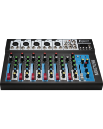 PROAUDIO MX07USB 7 in - 2 out audio mixer. MP3 player, Bluetooth. Headphone output.
