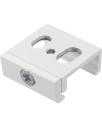 NORDIC ALUMINIUM NASKB123 Global Pulse Track Mounting Clamp for Rod and Wire, 200N, white