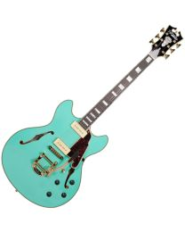 D'Angelico Excel DC Shoreline (with Bigsby) Surf Green DAEDCSSGGBCB9
