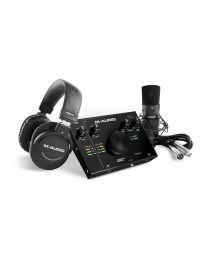 M-AUDIO AIR 192-4 Vocal Studio Pro Interfaccia audio USB 2-In / 2-Out con qualità sonora a 24-bit / 192kHz + microfono a condensatore Nova Black + Shockmount + cavo XLR + cuffie HDH40