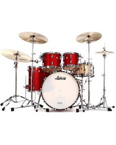 LUDWIG L88204AX27 CLASSIC MAPLE 4F RED SPARKLE BATTERIA ACUSTICA MADE IN USA